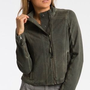 Anthropologie Marrakech Moto Utility Crop Jacket